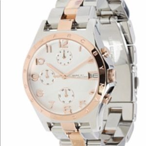 Marc Jacobs Women's Rose Gold and Silver Watch